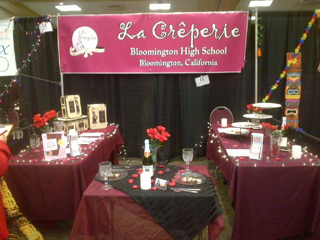 La Cr&#234perie booth at the San Diego Trade Show April 8,2013