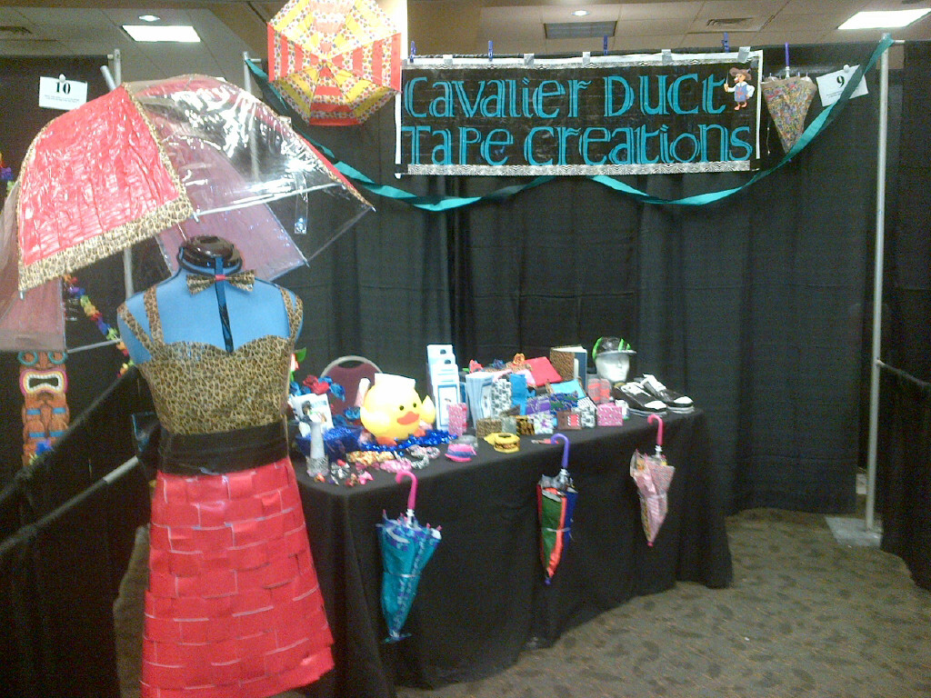 Cavalier Duct Tape Creations booth at the San Diego Trade Show April 8,2013