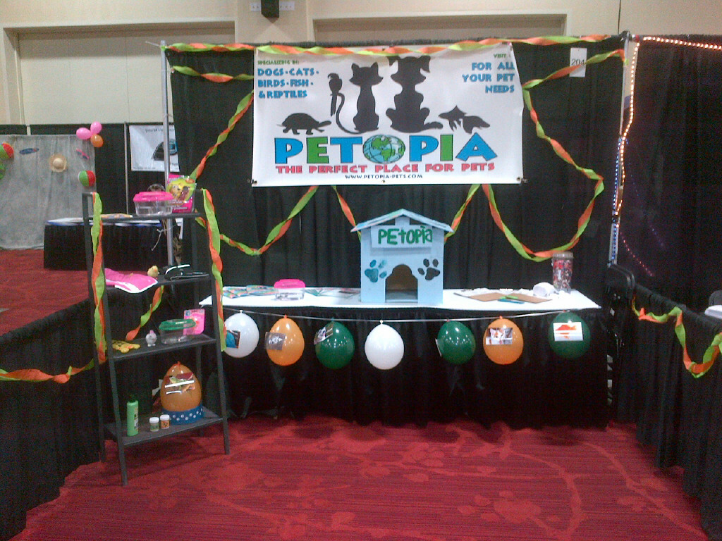 Petopia booth at San Diego Trade Show April 8, 2013